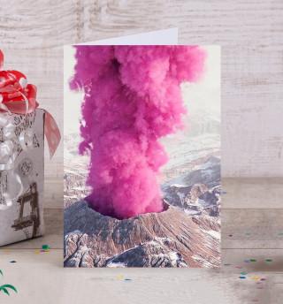 Розовый вулкан