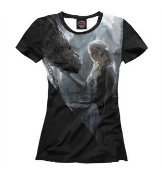 Женская футболка Мать драконов