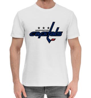 Мужская хлопковая футболка Овечкин Форма Capitals 2018
