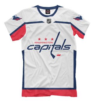 Мужская футболка Washington Capitals Форма Гостевая 2018