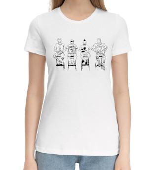 Женская хлопковая футболка Импровизация
