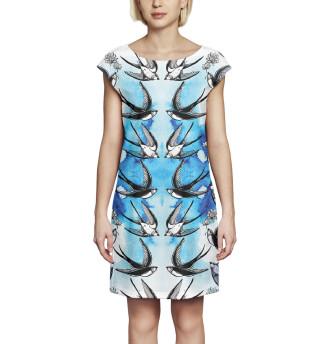 Платье без рукавов Ласточки