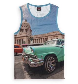Мужская майка Автомобили на Кубе