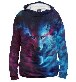 Мужское худи Space Wolf