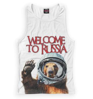Женская майка-борцовка Welcome to Russia