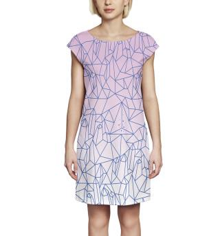 Платье без рукавов Абстракция