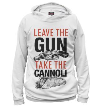 Мужское худи Отложи пистолет и съешь канноли
