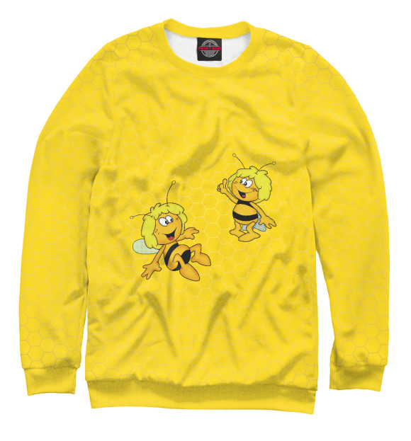 Женский свитшот с изображением Пчелка Майя цвета Белый