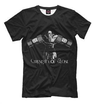 Мужская футболка Strength of stone