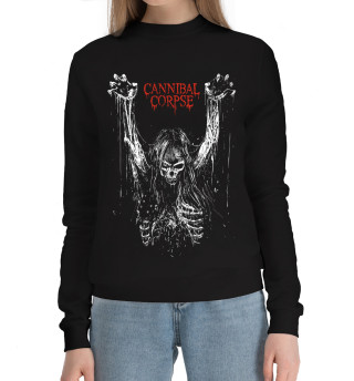 Женский хлопковый свитшот Cannibal Corpse