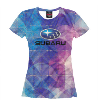 Женская футболка Subaru   Субару