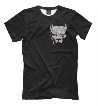 Мужская футболка Грозный питбуль