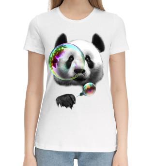 Женская хлопковая футболка Панда