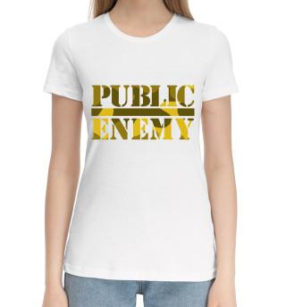 Женская хлопковая футболка Public Enemy