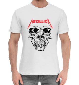 Женская хлопковая футболка Metallica