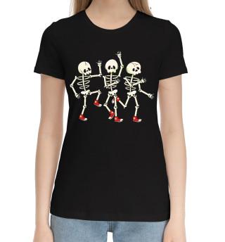 Женская хлопковая футболка Пляски на костях