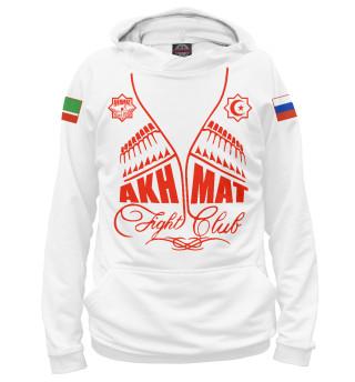 Мужское худи Fight Club Akhmat White