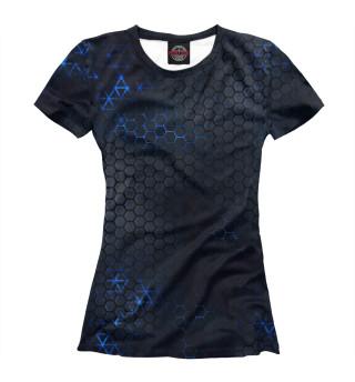 Женская футболка Стальные соты