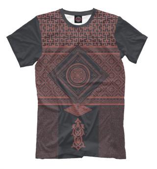 Мужская футболка Славянская обережная вязь