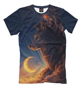 Женская футболка Волк Арт