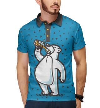 Мужское поло Пивной медведь