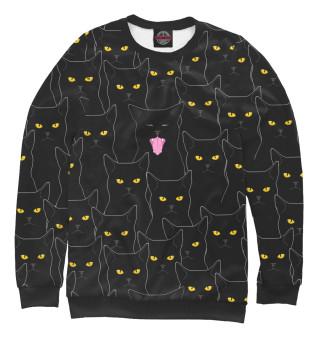 Женский свитшот Черные Коты