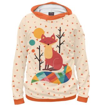 Женское худи Осенняя лисичка