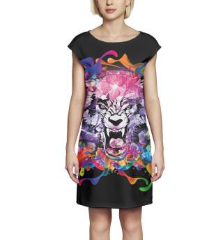 Платье без рукавов Тигр