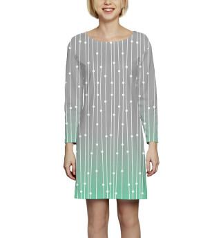 Платье с рукавом Абстракция