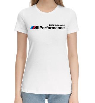 Женская хлопковая футболка BMW Motorsport