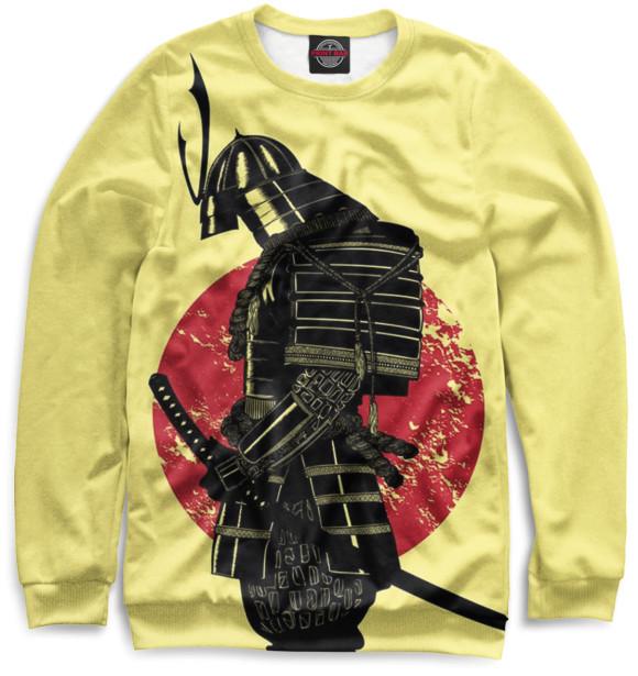 Мужской свитшот с изображением Доспехи самурая цвета Желтый
