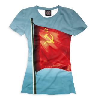Женская футболка Красное знамя