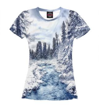 Женская футболка Ручеёк