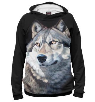 Мужское худи Волк Вожак