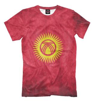 Мужская футболка Флаг Кыргызстана