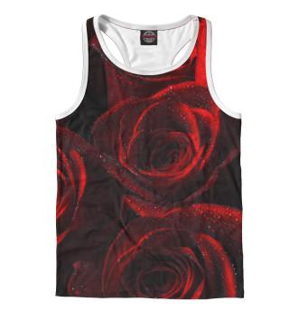 Мужская майка-борцовка Красные розы