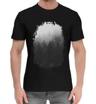 Мужская хлопковая футболка Лес