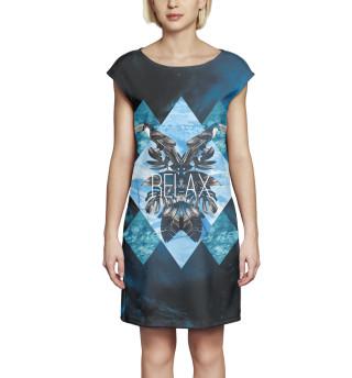 Платье без рукавов Relax