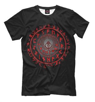 Мужская футболка Руны  Футарк