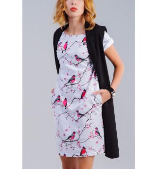 Платье летнее Снегири