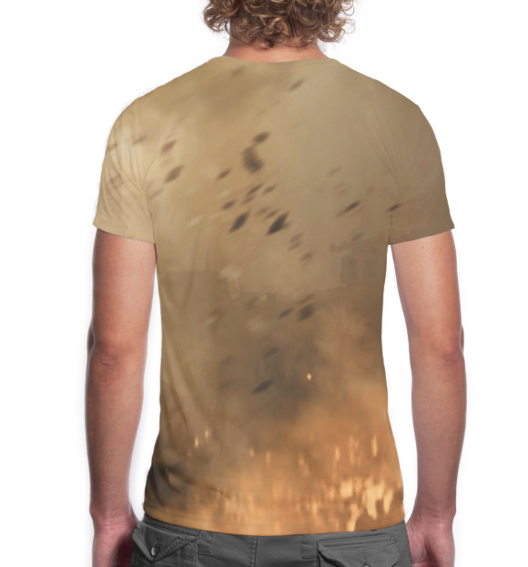 Мужская футболка с изображением Modern Warfare 2 цвета Белый