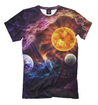 Мужская футболка Яркая планета