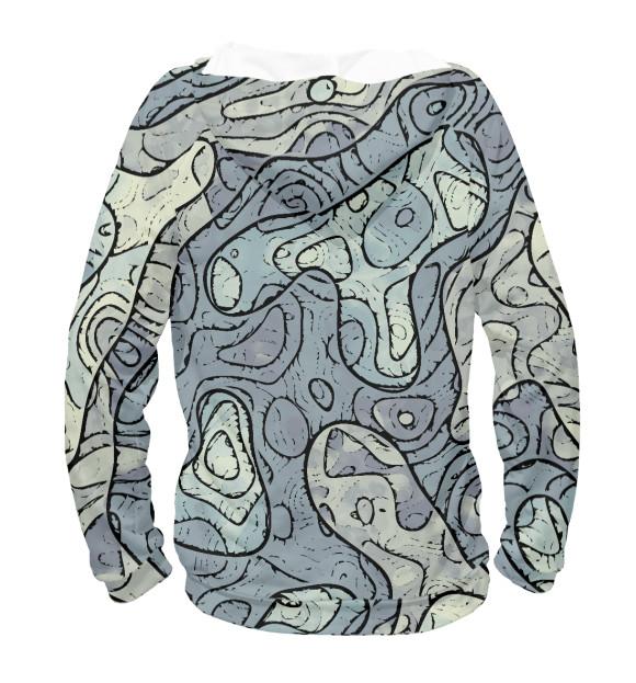 Женское худи с изображением Маркшейдер. Топология местности- карта высот цвета Белый