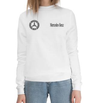 Женский хлопковый свитшот Mercedes-Benz