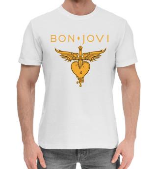 Мужская хлопковая футболка Bon Jovi