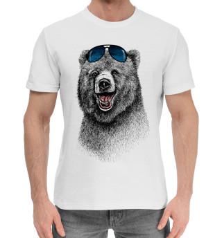 Мужская хлопковая футболка Медведи