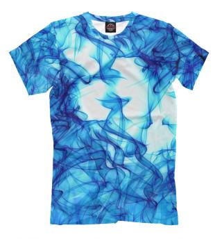 Мужская футболка Синий дым