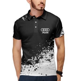 Мужское поло Audi abstract sport uniform