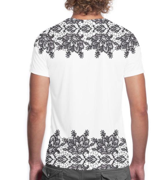Мужская футболка с изображением С днем рождения! цвета Белый