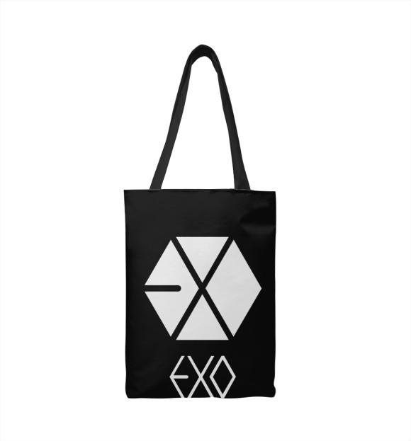 Сумка-шоппер с изображением EXO цвета
